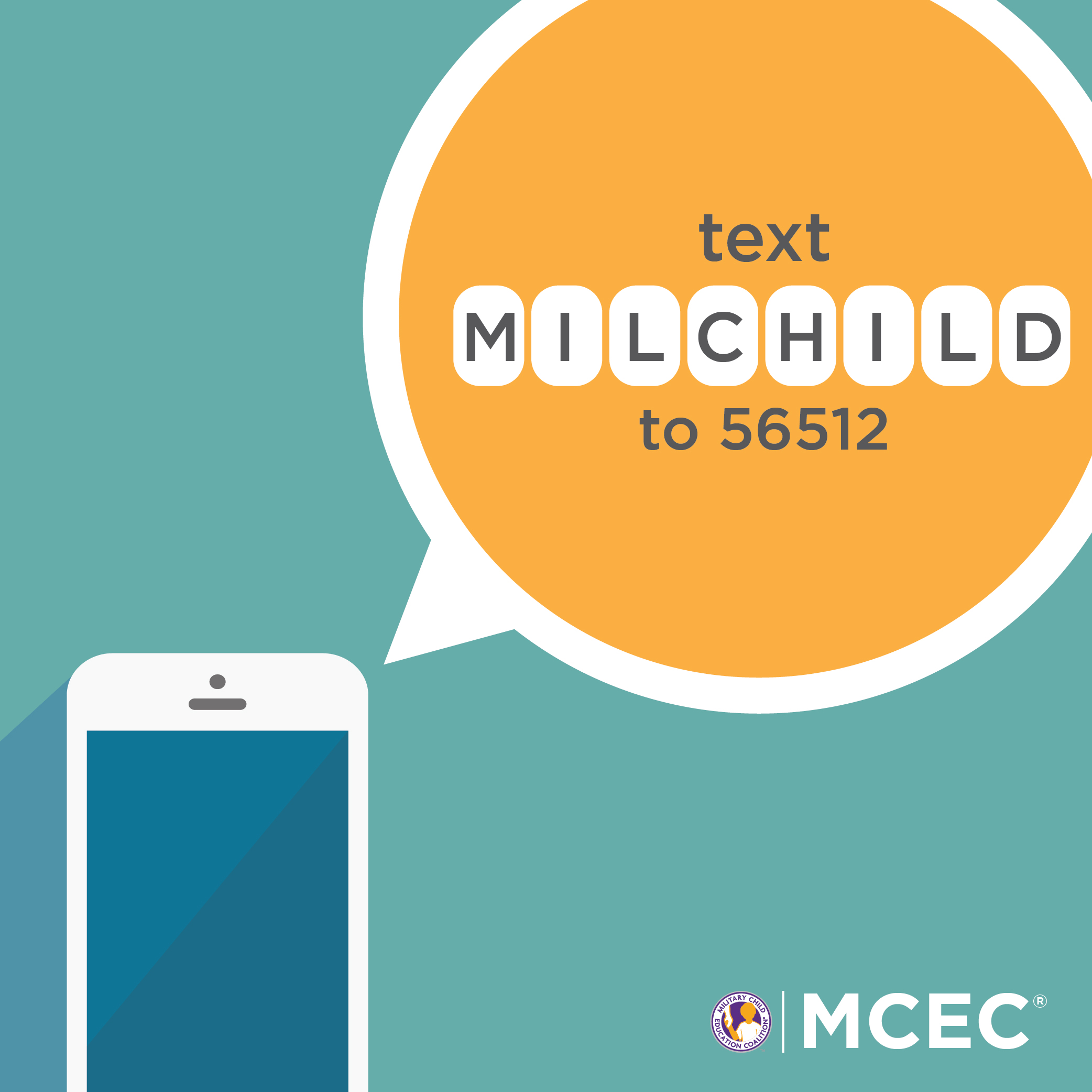 Text MILCHILD to 56512 to Donate